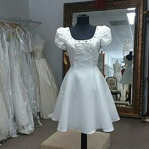 Eden short bridal dress White